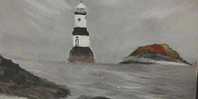 """Pour & Paint """"Lighthouse"""""""