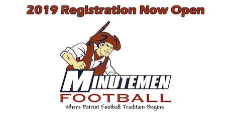 2019 Minutemen Flag & Tackle Football Registration tickets
