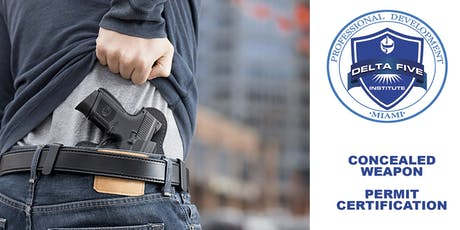 Concealed Weapon Permit Certification tickets