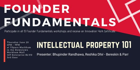 Founder Fundamentals - Intellectual Property 101 tickets