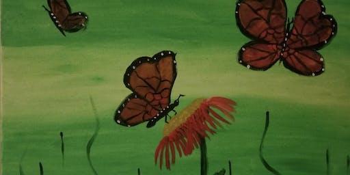"""Pour & Paint """"Butterflies"""""""