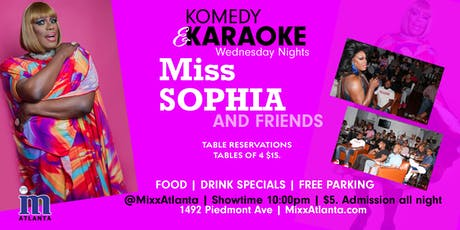 Komedy & Karaoke with Miss Sophia tickets
