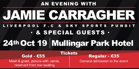 An Evening With JAMIE CARRAGHER tickets