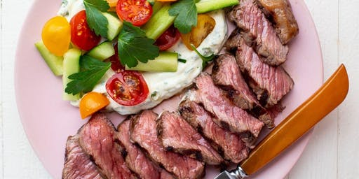 Grilled Beef with Greek Island Flavors