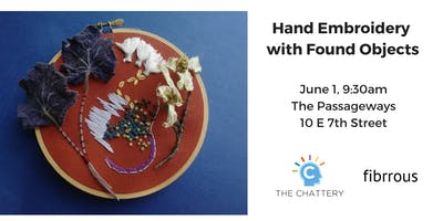 Hand Embroidery with Found Objects