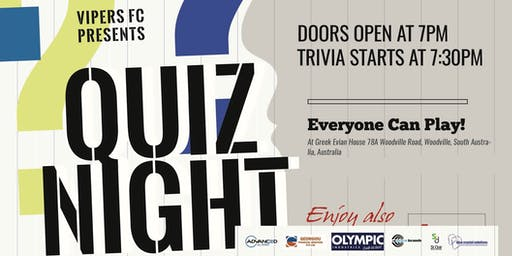 VIPERS QUIZ NIGHT