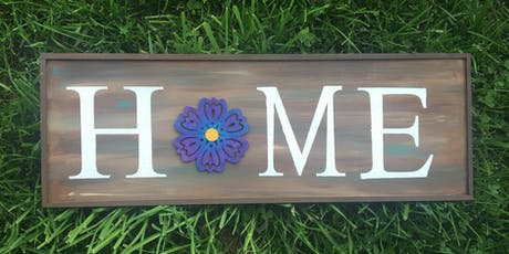 Babble and Brushes Interchangeable Home Sign Paint and Sip tickets
