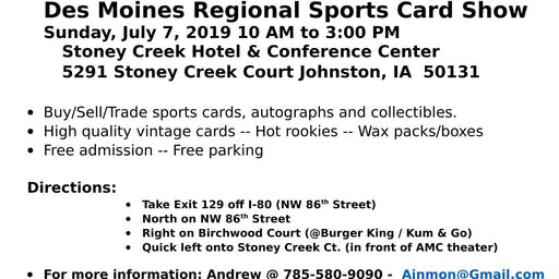 Des Moines Regional Sports Card Show