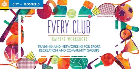Child Safe Clubs - City of Gosnells Every Club Workshop tickets