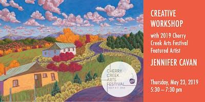 Creative Workshop with 2019 Cherry Creek Arts Festival Featured Artist Jennifer Cavan