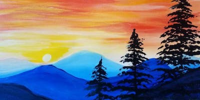 Paint Wine Denver Broncos Sunset Wed June 19th 6:30pm $35