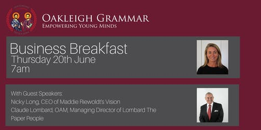 Oakleigh Grammar Business Breakfast