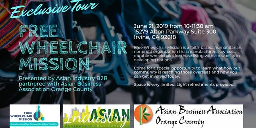 "AIB2B & ABAOC Exclusive Tour of ""Free Wheelchair Mission"" *Space Limited*"