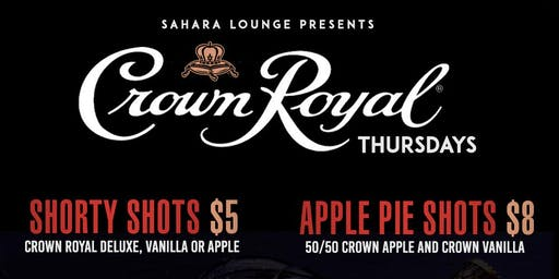 Crown Royal Thursdays ( NO COVER CHARGE ALL NIGHT)