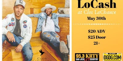 95.3 KRTY and DGDG.com Present LOCASH with guest Adam Craig