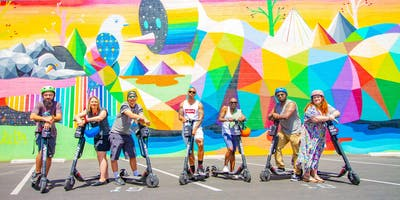 Downtown Guided E-Scooter Adventure | Street Art Photography Tour
