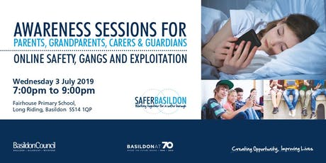 Awareness Session - Online Safety, Gangs and Exploitation  tickets
