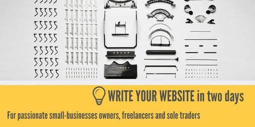 Write Your Website Workshop (October)