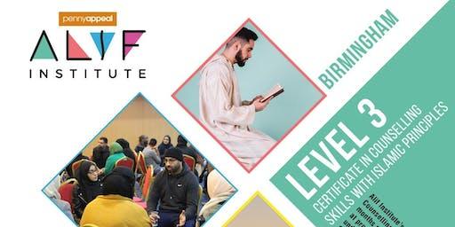 Alif Institute Islamic Counselling Level 3 Birmingham