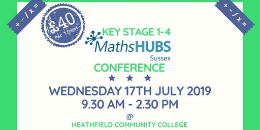 Key Stage 1-4 Maths Conference from Sussex Maths Hubs
