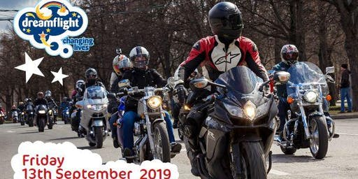 Dreamflight Charity Motorbike Ride London Ace Cafe to Swanage Dorset