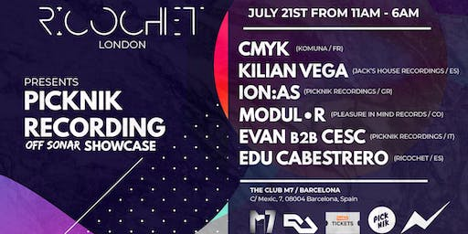 Ricochet x Picknik Recordings Off Sonar Showcase