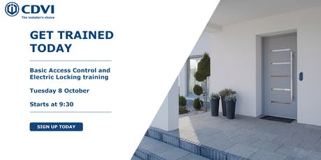 October Basic Access Control and Electric Locking Training tickets