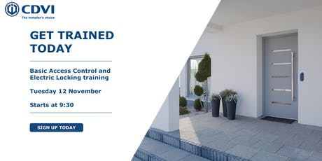 November Basic Access Control and Electric Locking Training tickets