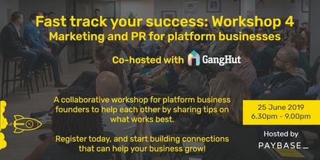Marketplaces and Gig/Sharing Economy Platforms: Marketing & PR   tickets