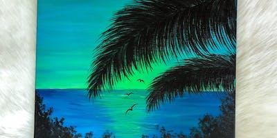 Neon Sunset Paint & Sip!