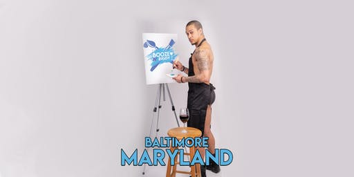 Booze N' Brush Next to Naked Sip n' Paint Baltimore MD - Exotic Male Model Painting Event