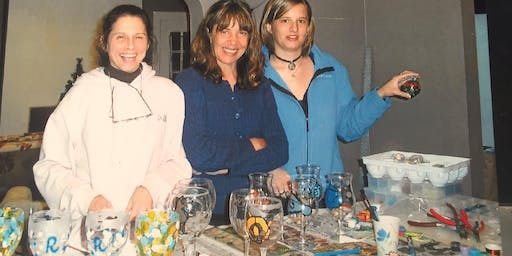 Painting, Etching And Embellishing Wine Glasses