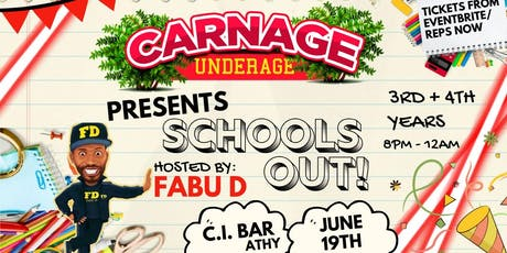 Carnage - 3rd & 4th Years at C.I Bar, Athy! tickets