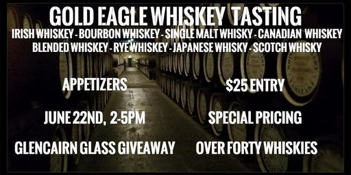 Gold Eagle Whiskey Tasting