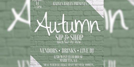 Autumn Sip & Shop (Vendors Only)