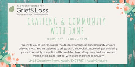 Community Crafting with Jane tickets