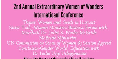 2nd Annual  Extraordinary Women of Wonders Internatioanl Conference