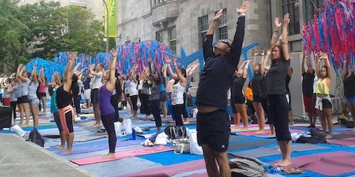Yoga matinal avec l'Art de Vivre - Morning yoga with the Art of living