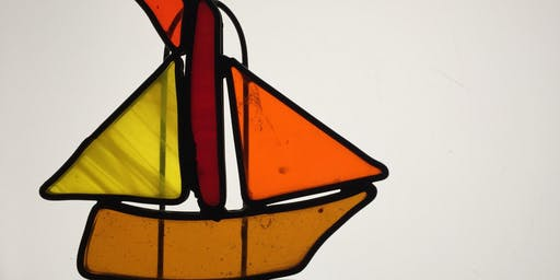 Father's Day Out Stained Glass Garden Spirit Sculpture Workshop Sailboat 6/16/19