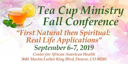 2019 Tea Cup Ministry Fall Conference