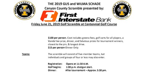 Gus and Wilma Schade Canyon County VSF Golf Tournament