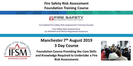 MANCHESTER Fire Safety Risk Assessment Foundation Training Course tickets