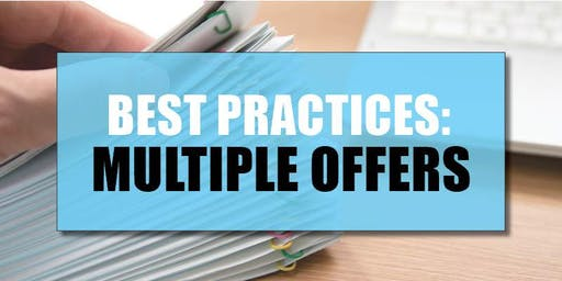 CB Bain | Best Practices: Multiple Offers (3 CE-WA) | Vancouver East | July 23rd 2019