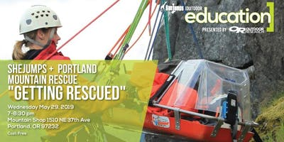 """SheJumps and Portland Mountain Rescue """"Getting Rescued"""""""