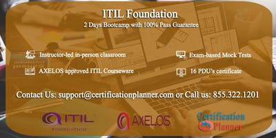 ITIL Foundation 2 Days Classroom in Raleigh