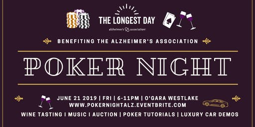 Poker Night Benefiting The Alzheimer's Association