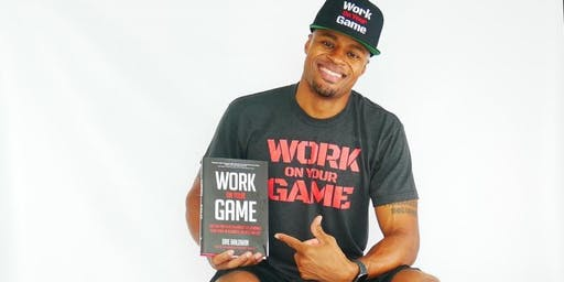 """Dre Baldwin discussing """"Work on Your Game"""" at Books & Books!"""