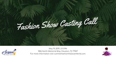 Summer Fashion Show Model Second Casting Call