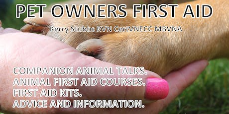 Fully Accredited Animal (Predominately dogs & Cats) First Aid Course tickets