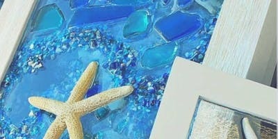 Create your own Sea Glass Frame @ Just Breathe Art